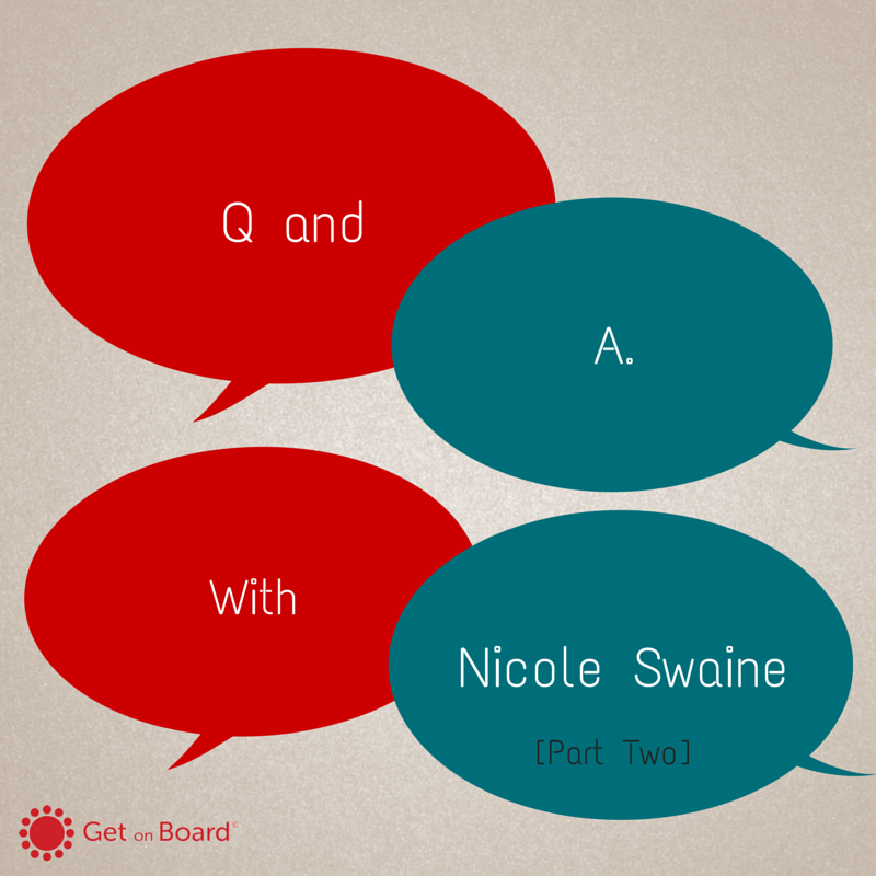 Q&A with Nicole Swaine - Part Two