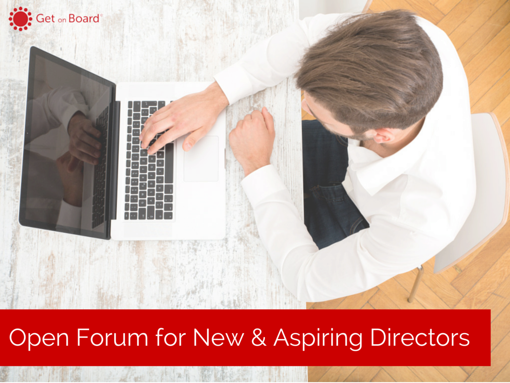 public forum for new and aspiring directors