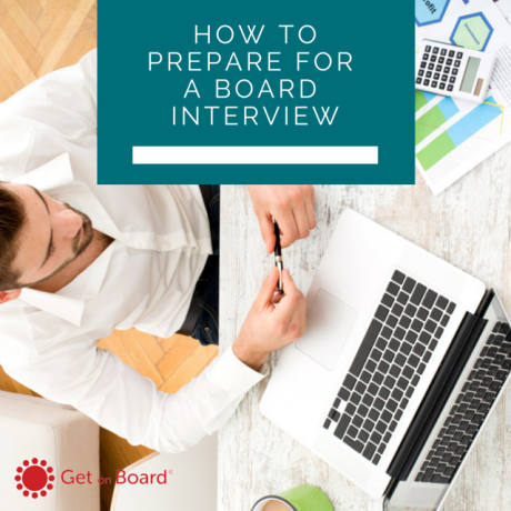 An action plan for preparing for a board interview