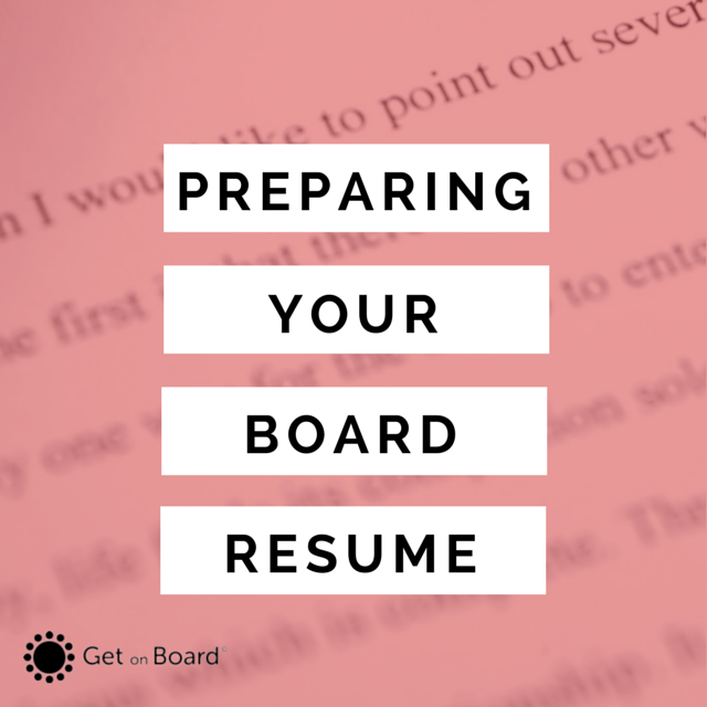 how to prepare a board resume or director cv get on board australia
