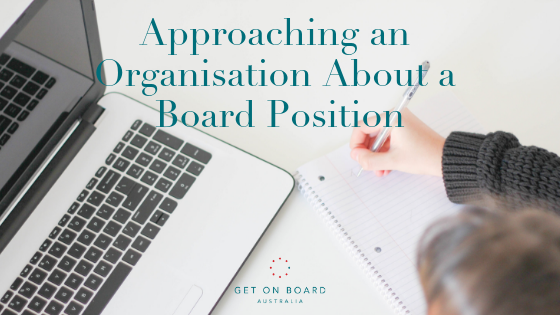 How to Approach an Organisation to Join Their Board