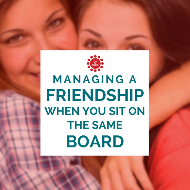 How to manage a friendship when one of you becomes the Chair