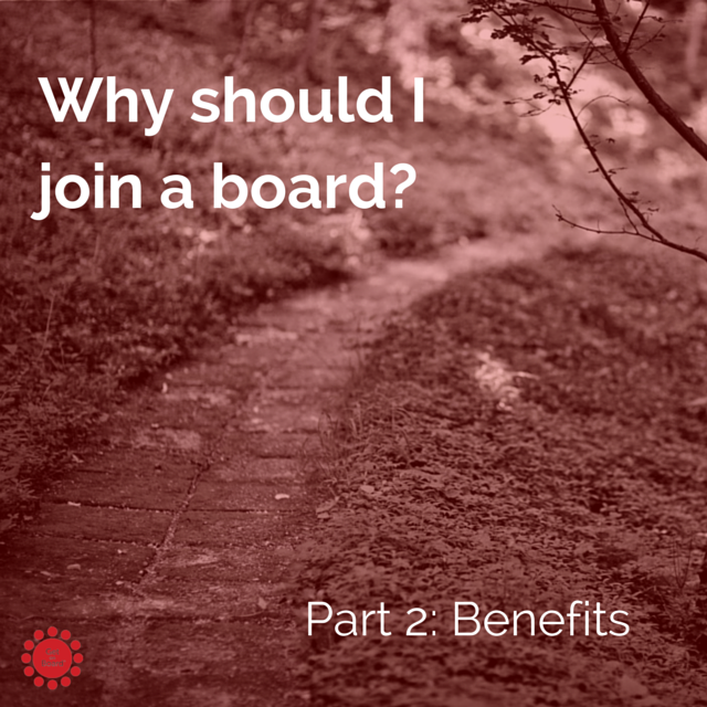 Why should I join a board?