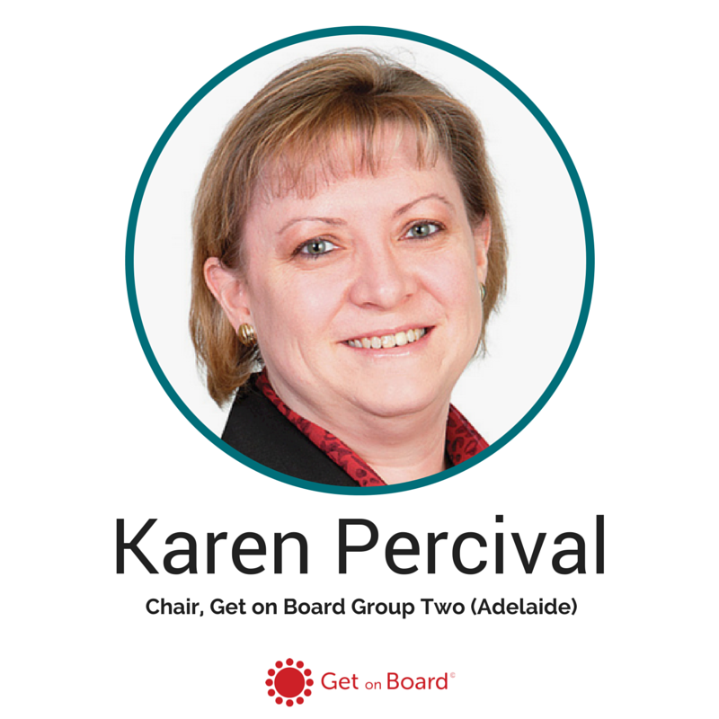 Chair of Get on Board Group Two, Karen Percival