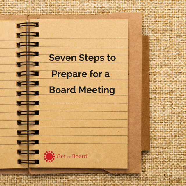 How to prepare for a board meeting