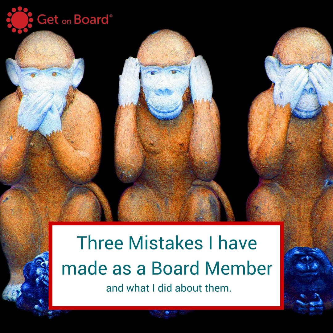 Three common mistakes made by board members