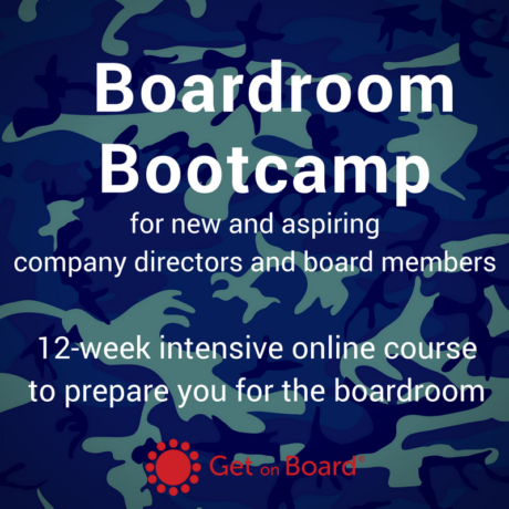 12 week online course for new and aspiring company directors and board members