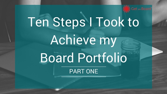 Ten steps to achieving a board portfolio