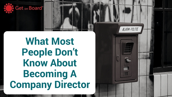 Three myths about becoming a company director