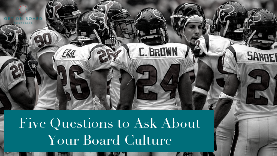 Culture in the Boardroom