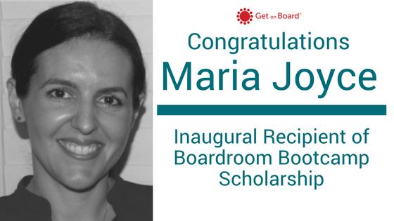 Maria Joyce Boardroom Bootcamp Scholarship Winner