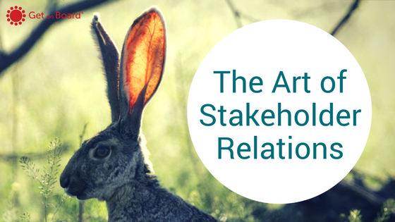 Strategically using Stakeholder Relations