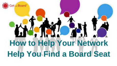 Using your network to find a board seat