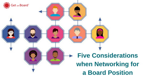 Networking for a board position