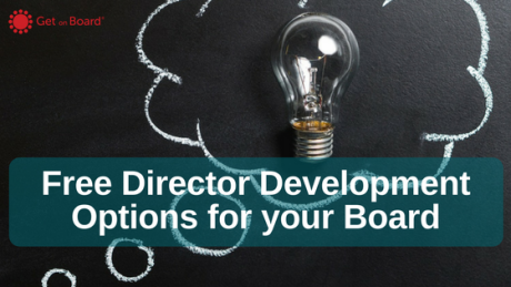 Free Director Development Options for your Board
