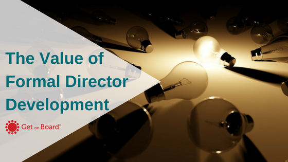 The value of formal director education