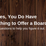 What skills do I need to have to join a board