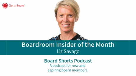 Liz Savage is our December boardroom insider of the month