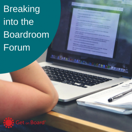 Group logo of Breaking into the Boardroom – Online Course